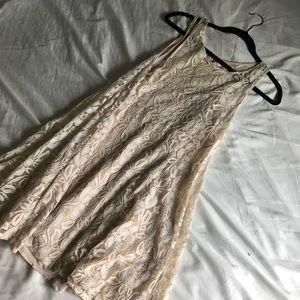 Free People Delicate lace dress and slip